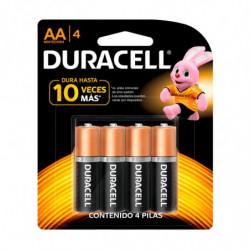 Pilas AA (chica) Duracell, blister de 4 unidades