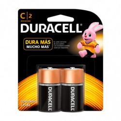 Pilas C (mediana) Duracell, blister de 2 unidades