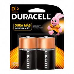 Pilas D (grande) Duracell, blister de 2 unidades