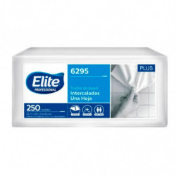 Toallas para manos Elite blancas, 12 packs de 250 hojas