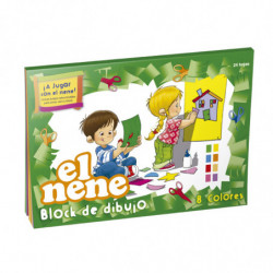 Block de dibujo El Nene Nº6, 24 hojas color