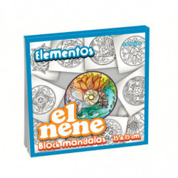 Block de dibujo El Nene Mandalas Elementos, 15 x15cm. 24 hojas
