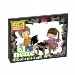 Block de dibujo El Nene Nº5, 24 hojas negras