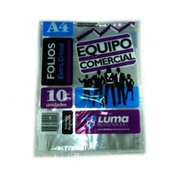 Folios Equipo Comercial A4, pack de 10 unidades